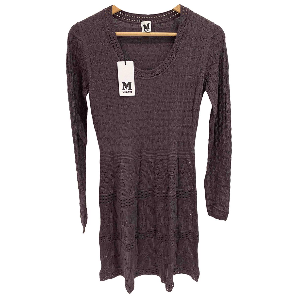 M Missoni \N Kleid in  Braun Baumwolle