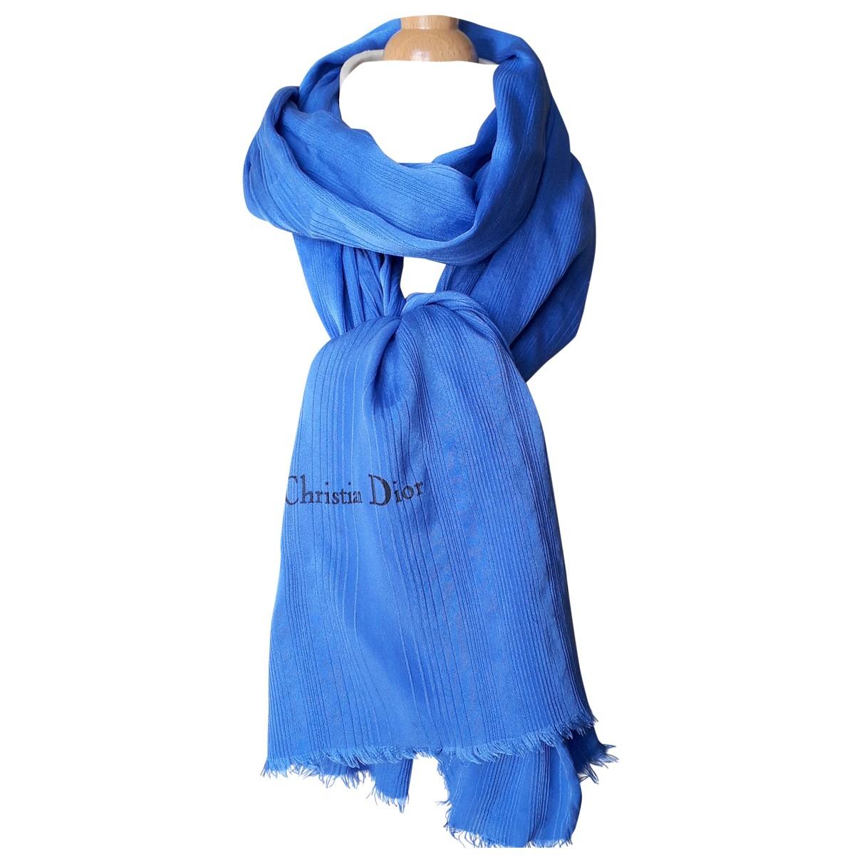 Christian Dior \N Blue Silk scarf for Women \N
