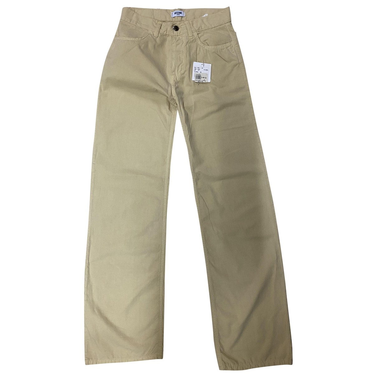 Moschino \N Beige Cotton Trousers for Men 28 UK - US