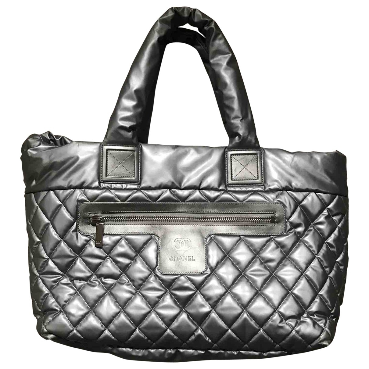 Chanel - Sac a main Coco Cocoon pour femme en cuir - argente