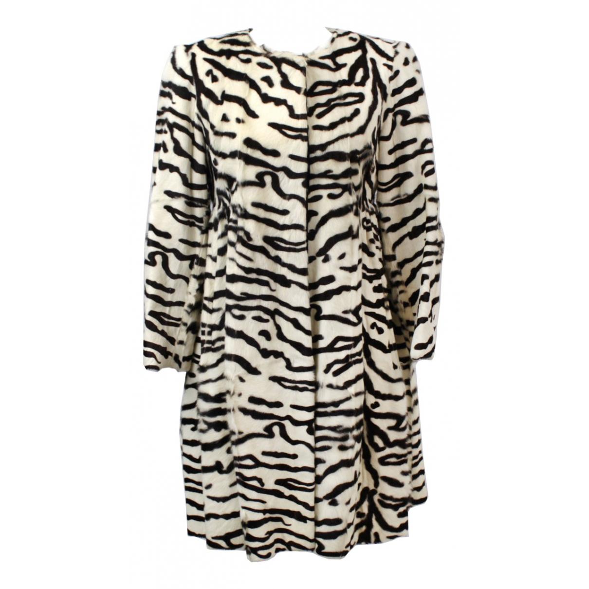 Fendi - Manteau   pour femme en fourrure - noir