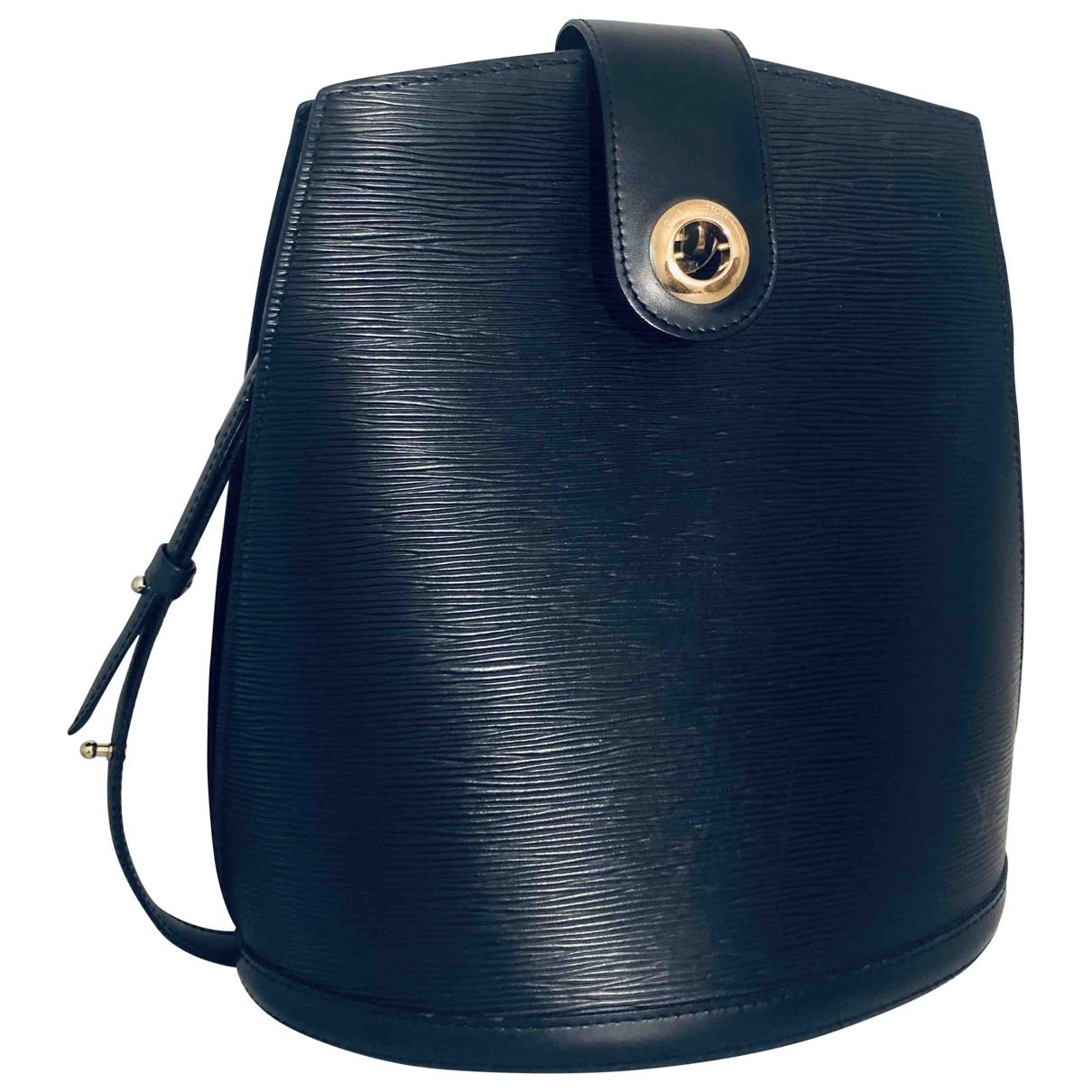 Louis Vuitton Cluny Black Leather handbag for Women \N