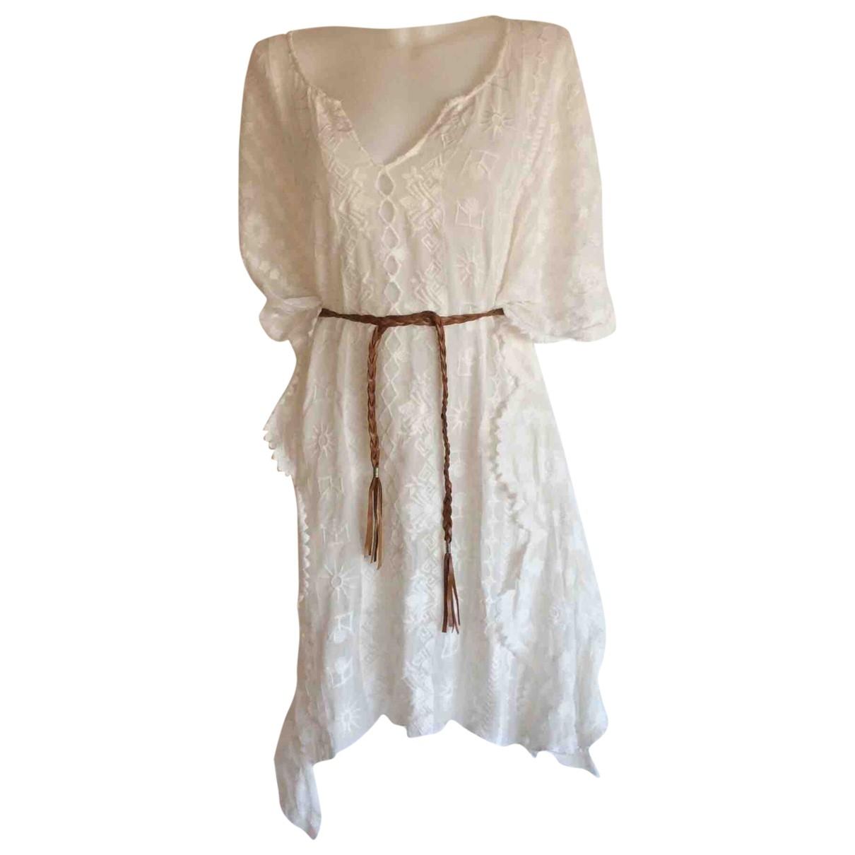 Zara - Bain   pour femme en coton - blanc