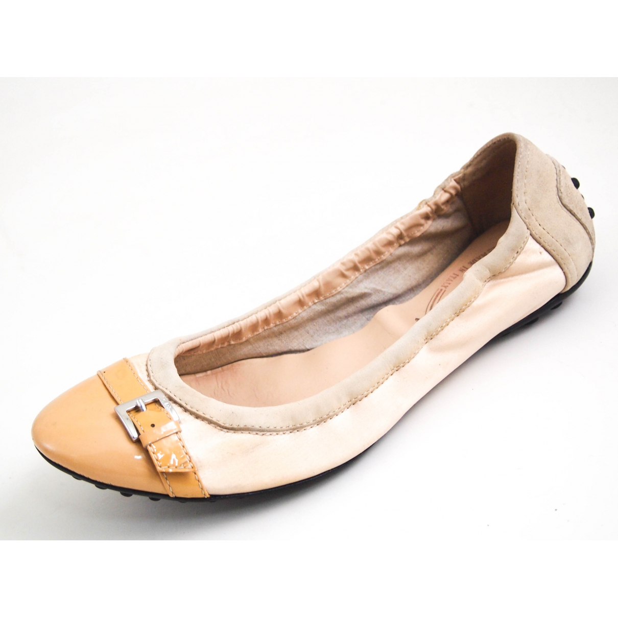 Tod's N Beige Patent leather Ballet flats for Women 36.5 EU