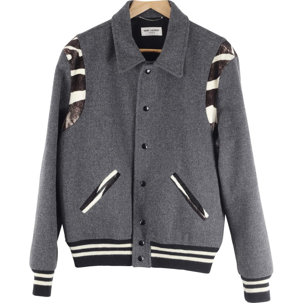 Saint Laurent \N Jacke in  Grau Wolle