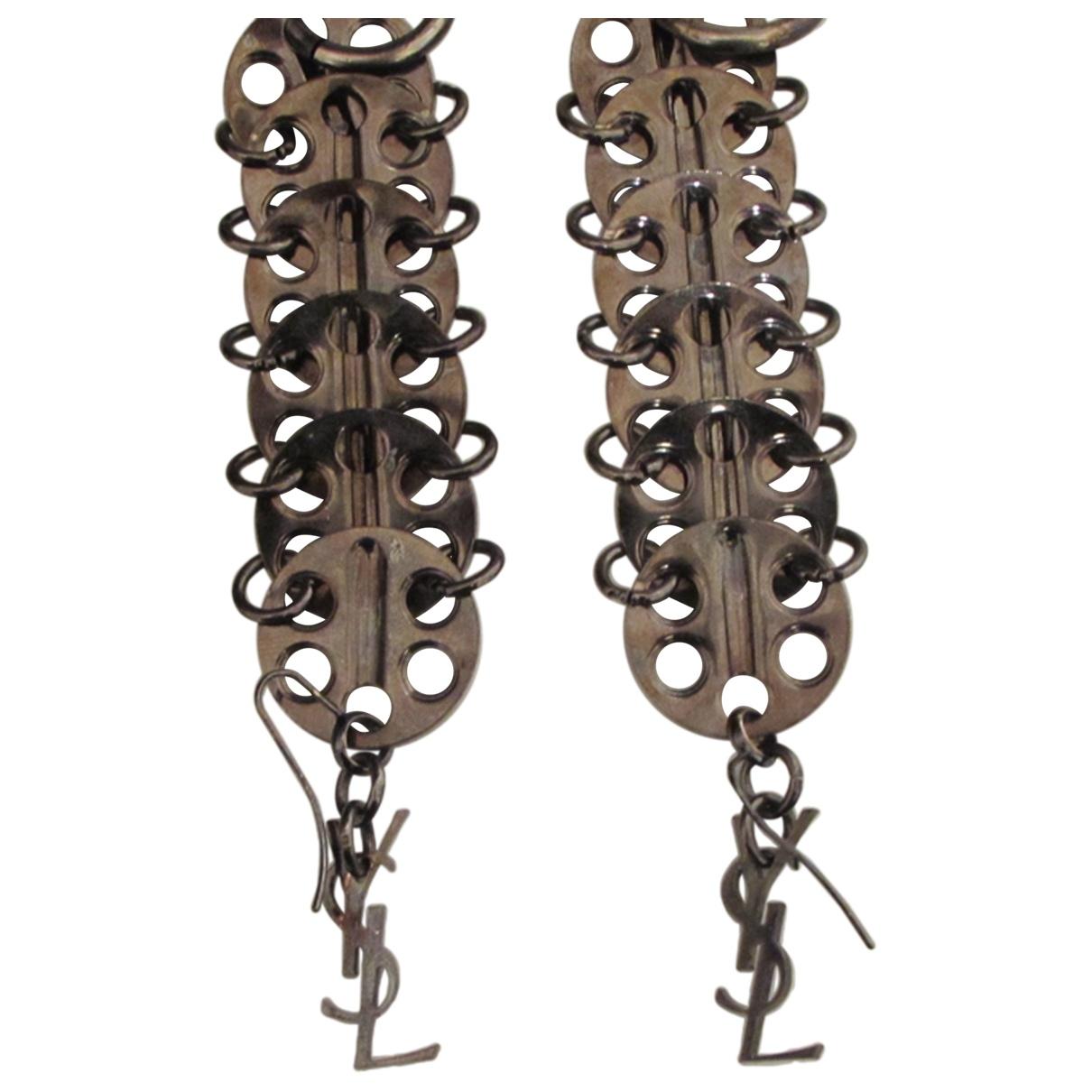 Yves Saint Laurent \N Black Metal Earrings for Women \N