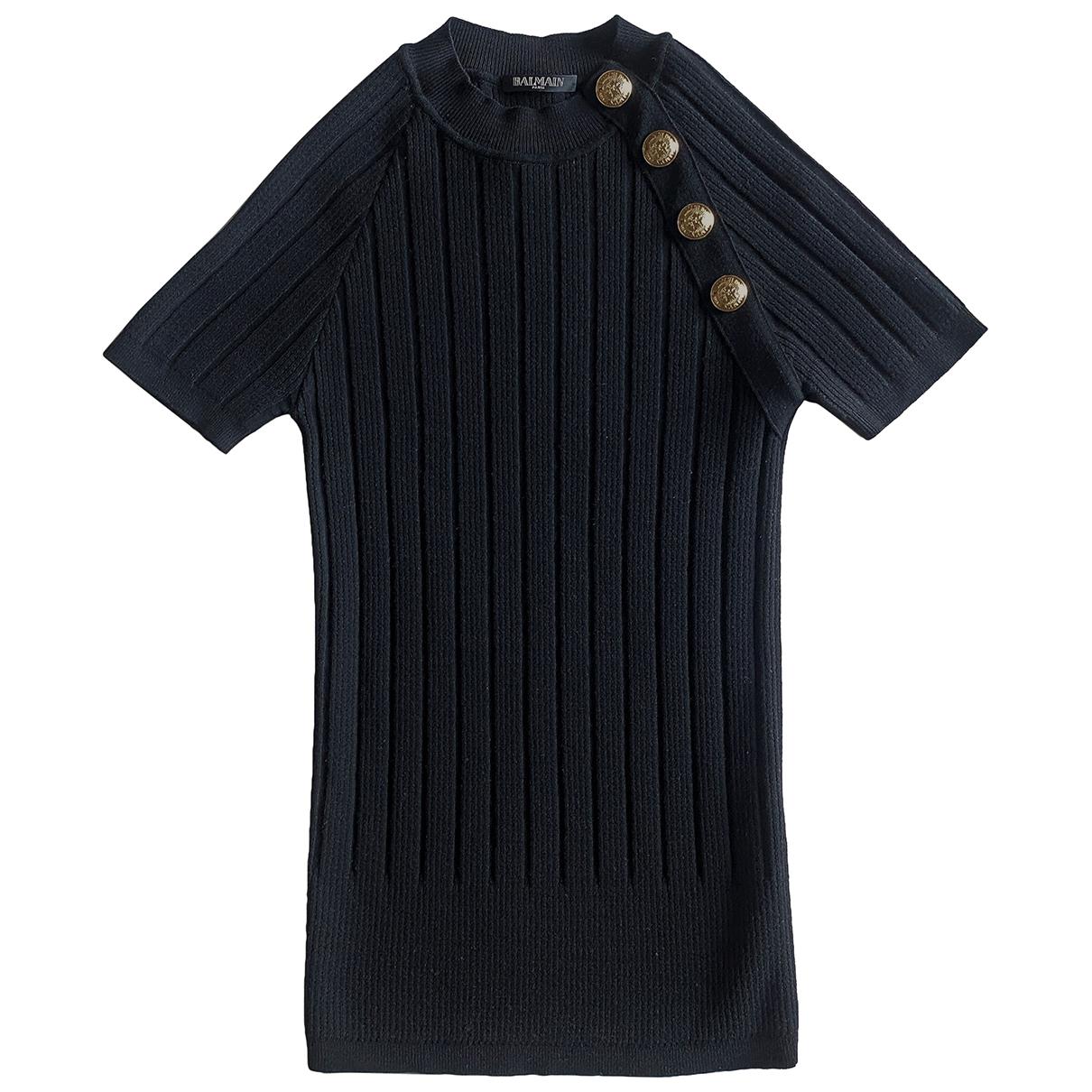 Balmain N Black Wool Knitwear for Women 38 FR