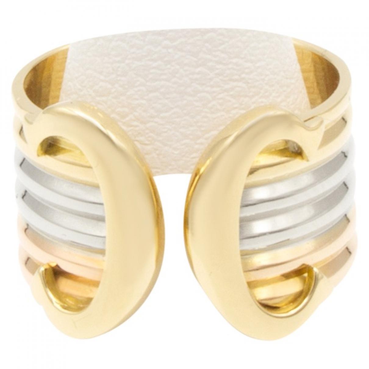 Cartier - Bague C pour femme en or jaune - multicolore