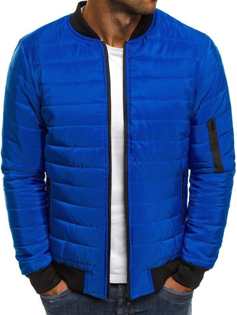 Ericdress Patchwork Color Block Standard Zipper Casual Men's Down Jacket