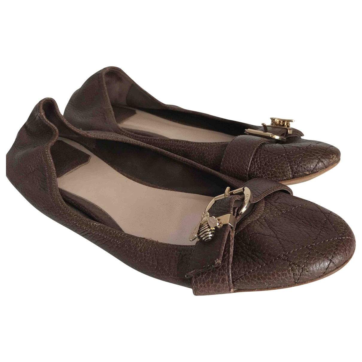 Dior \N Brown Leather Ballet flats for Women 38.5 EU