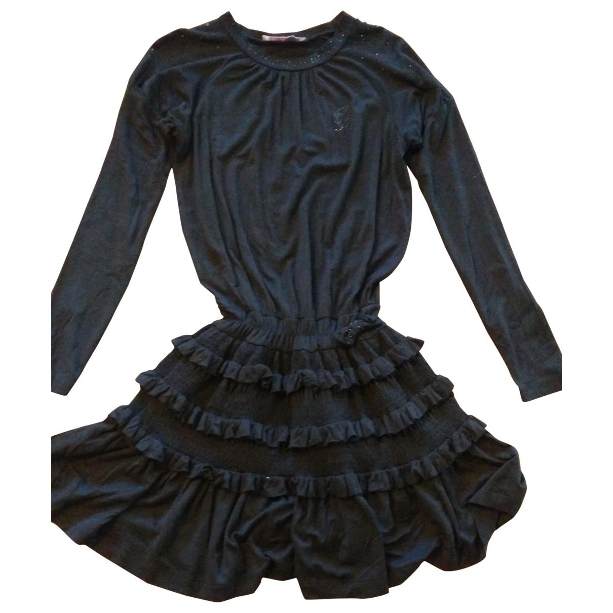 Blumarine \N Kleid in  Schwarz Baumwolle