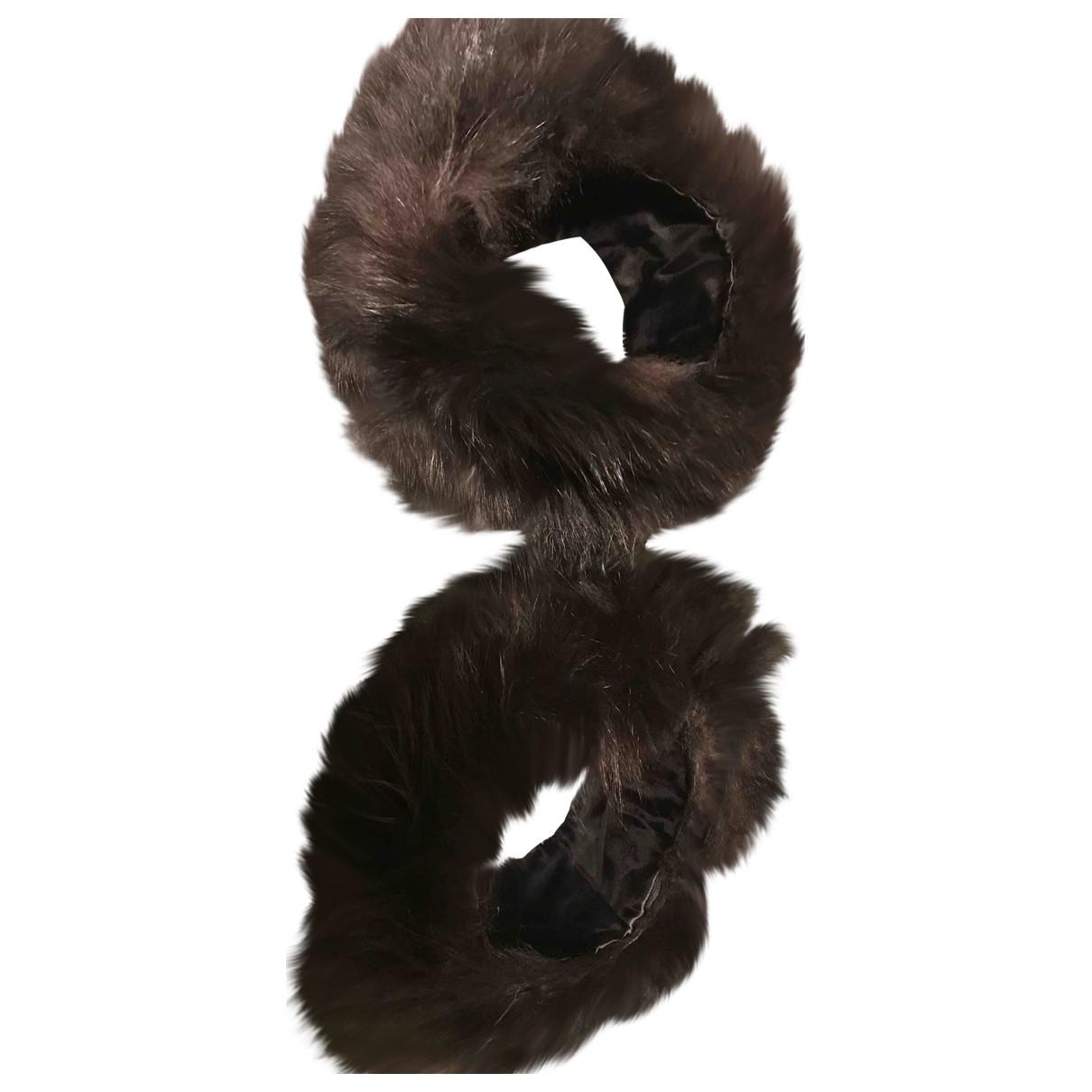 - Gants   pour femme en renard - noir