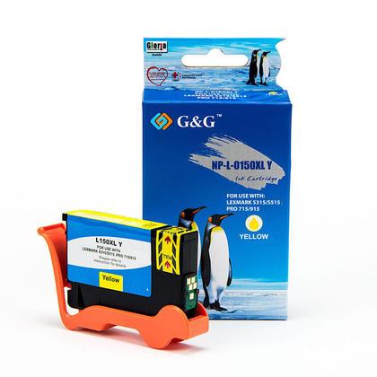 Compatible Lexmark 150XL 14N1618 Yellow Ink Cartridge High Yield - G&G