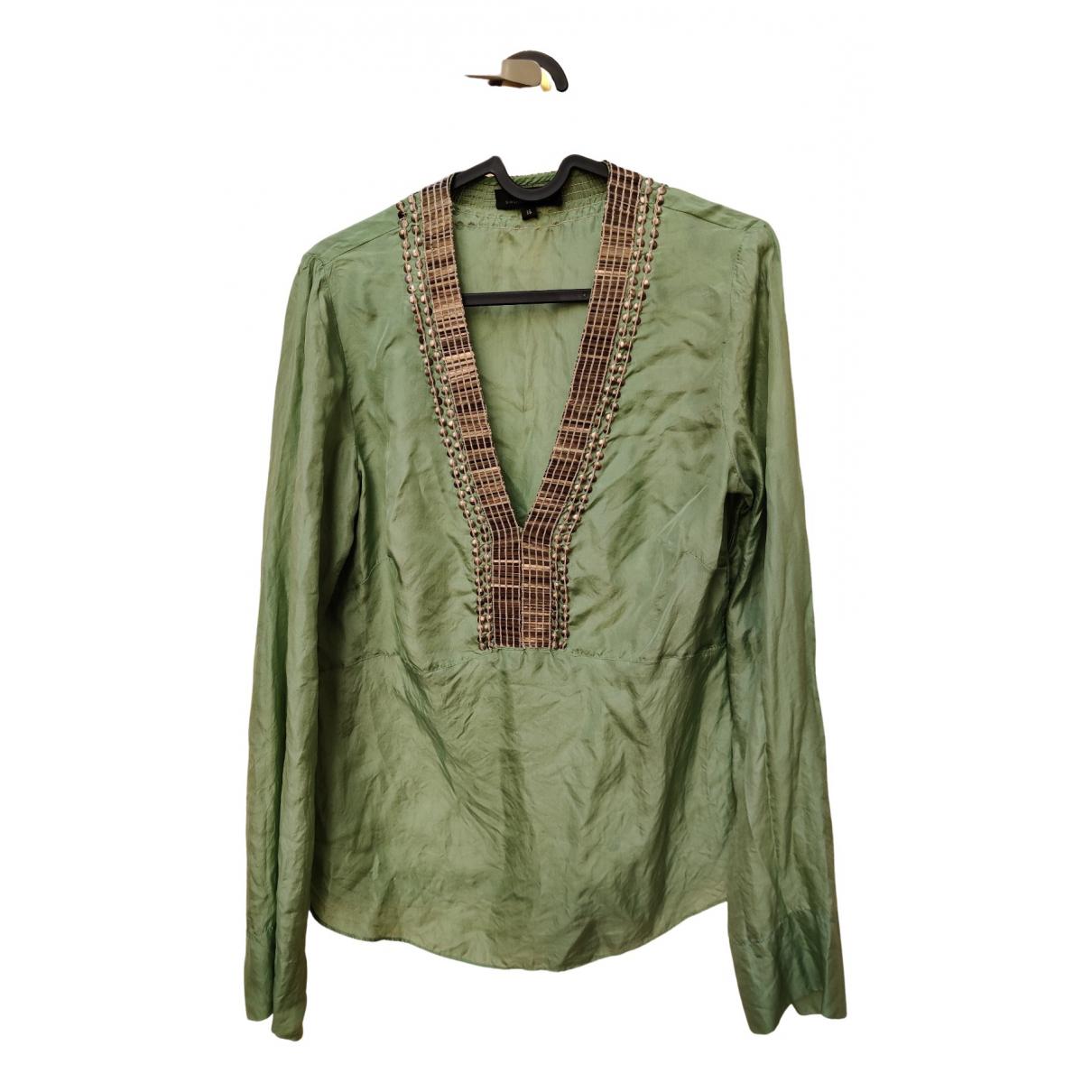 Day Birger & Mikkelsen N Green Silk  top for Women 38 FR