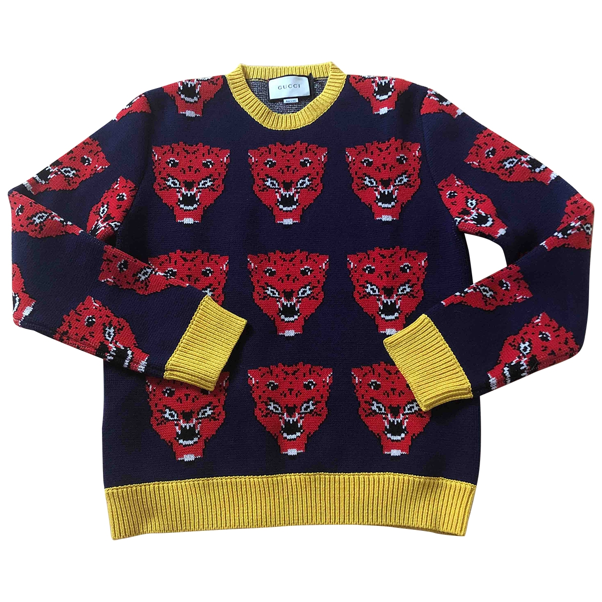 Gucci \N Pullover.Westen.Sweatshirts  in  Marine Wolle