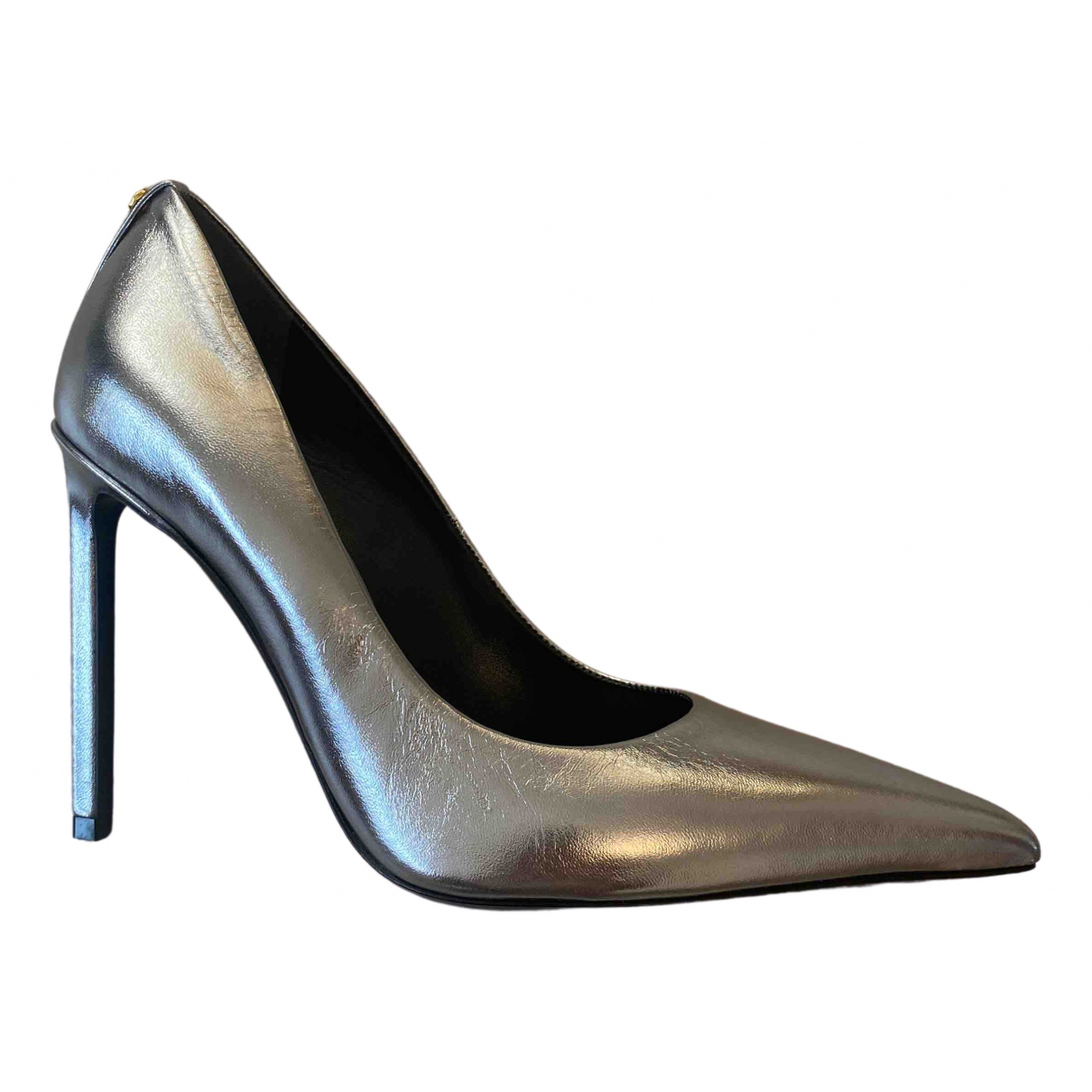 Tom Ford \N Silver Leather Heels for Women 37.5 EU
