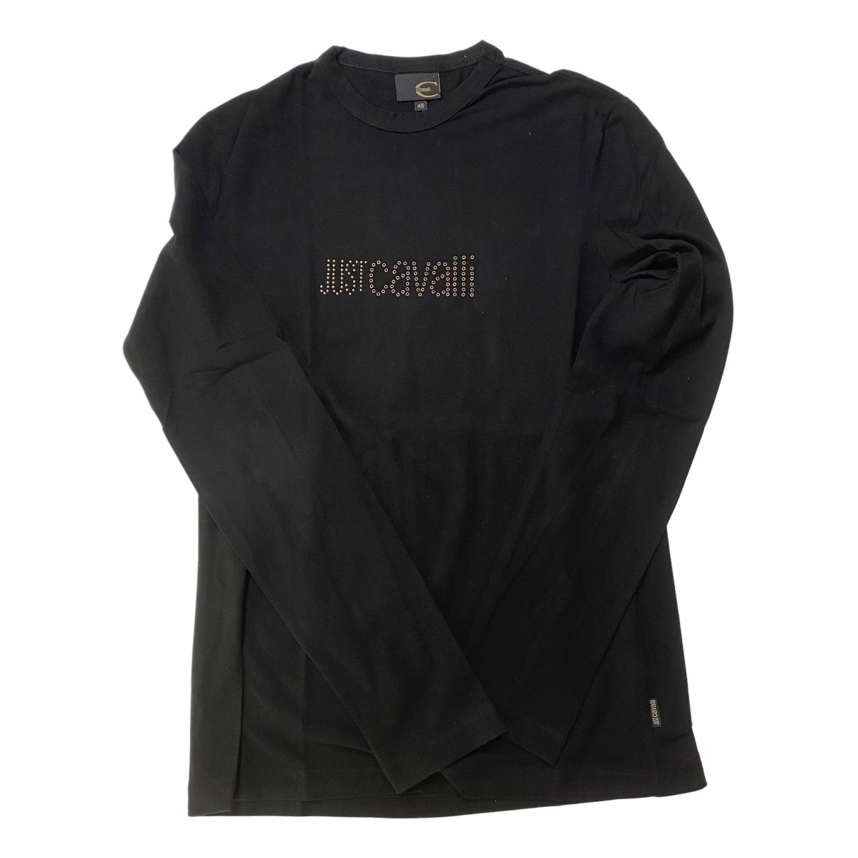 Just Cavalli \N Pullover.Westen.Sweatshirts  in  Schwarz Baumwolle