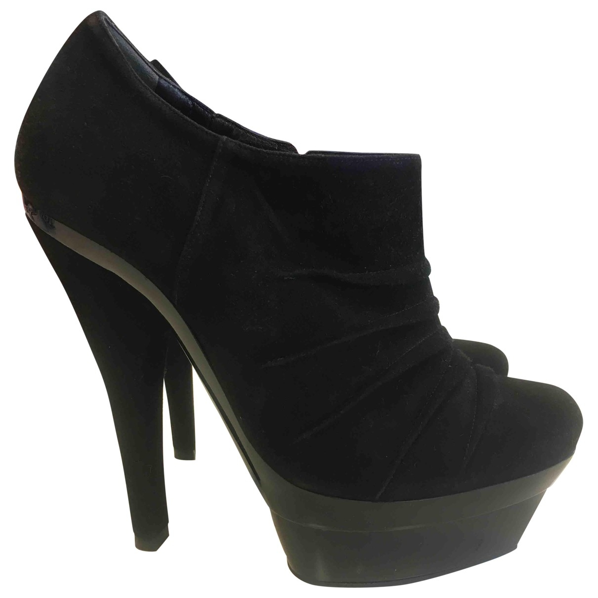 Barbara Bui \N Black Suede Ankle boots for Women 36 EU