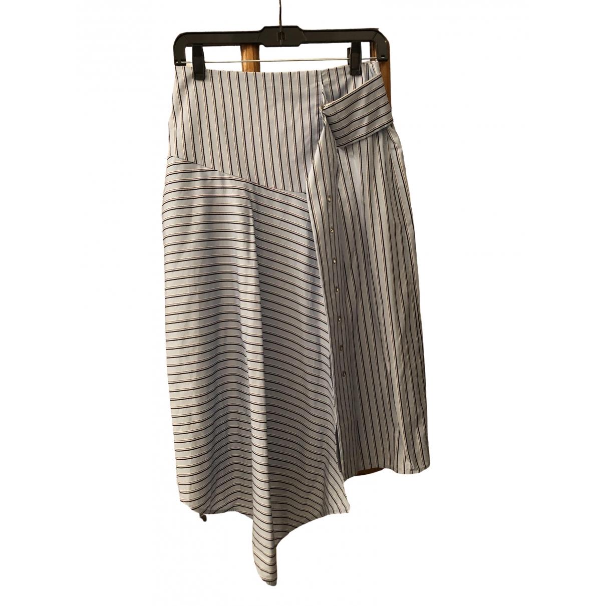 Tibi - Jupe   pour femme en coton - bleu