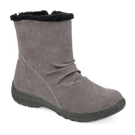 Journee Collection Womens Lodiak Winter Boots, 6 1/2 Medium, Gray