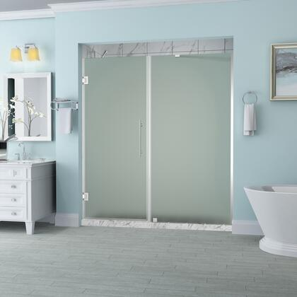 SDR965F-CH-6533-10 Belmore 64.25 To 65.25 X 72 Frameless Hinged Shower Door With Frosted Glass In