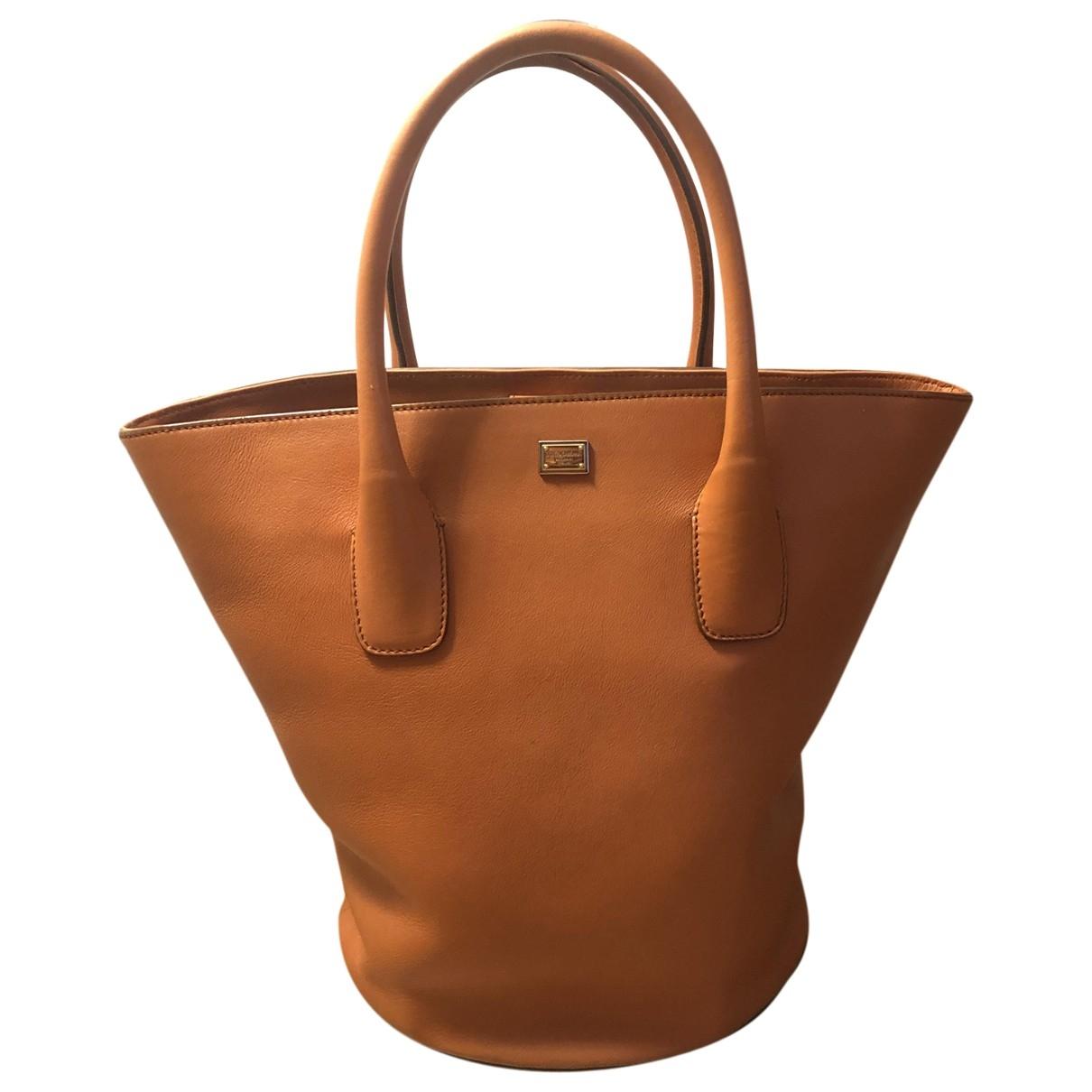 Dolce & Gabbana - Sac a main   pour femme en cuir - orange