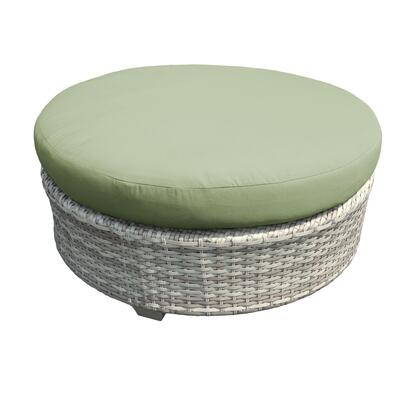 TKC045b-CTRND-CILANTRO Fairmont Round Coffee Table with 2 Covers: Beige and