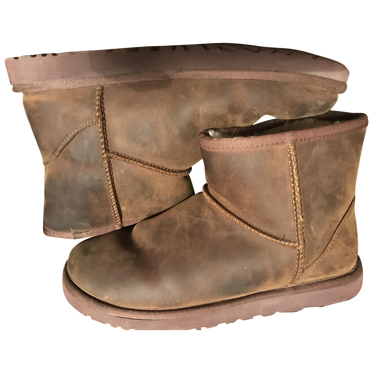 Ugg \N Brown Leather Ankle boots for Women 39 EU