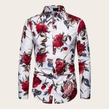Camisa de hombres con estampado floral