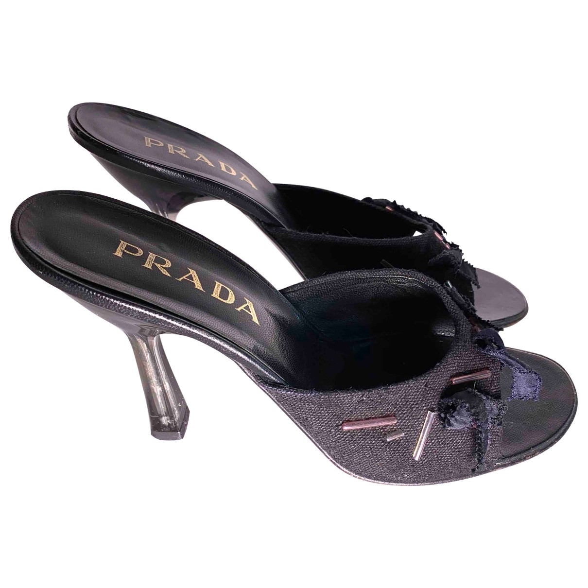 Prada \N Black Cloth Sandals for Women 41 EU