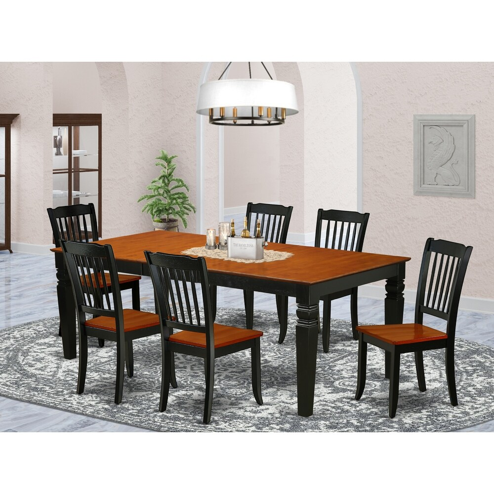 Rectangular 66/84 Inch Table with 18