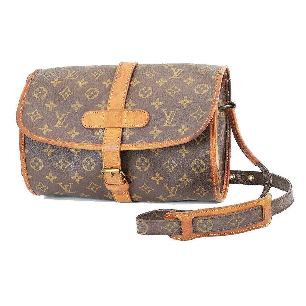 Louis Vuitton - Sac a main Marne pour femme en cuir - marron