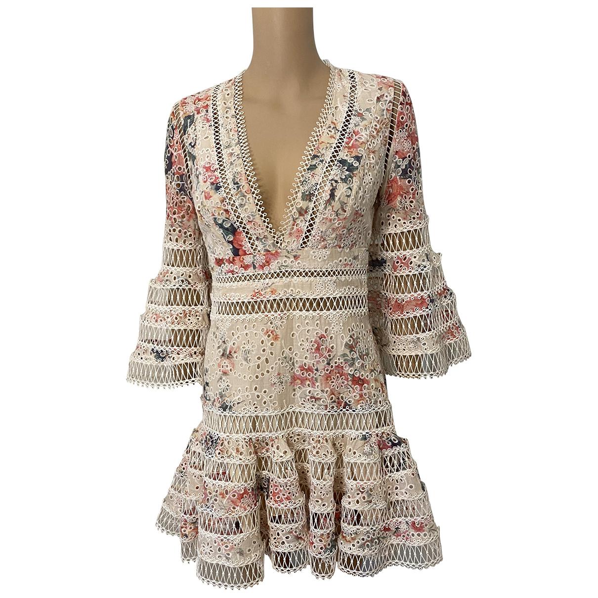 Zimmermann \N Kleid in  Bunt Baumwolle