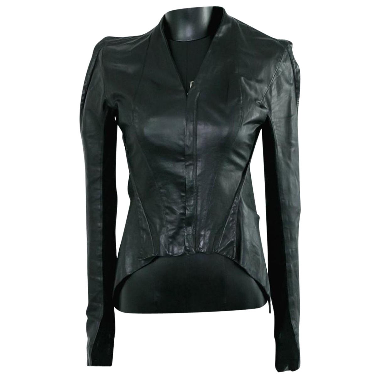 Rick Owens N Black Leather jacket for Women XS International