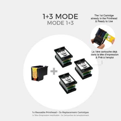 HP 63XL F6U64AN Eco-Saver Remanufactured Black Ink Cartridge High Yield 1+3 / Box