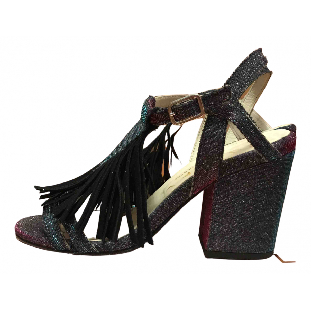 Non Signe / Unsigned \N Sandalen in  Bunt Polyester