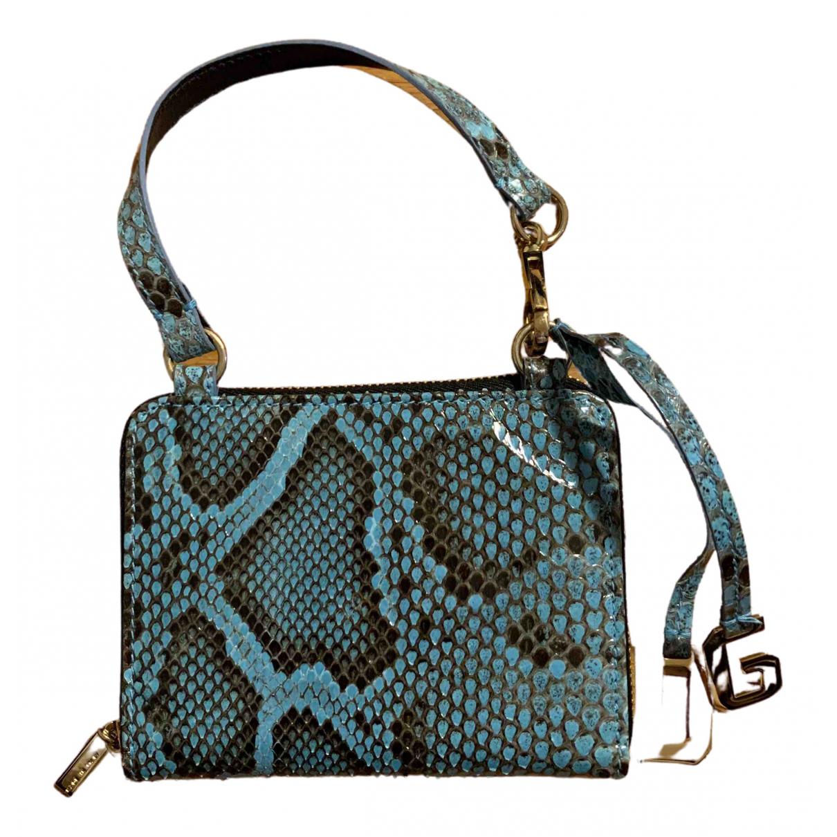 Dolce & Gabbana \N Clutch in  Tuerkis Python