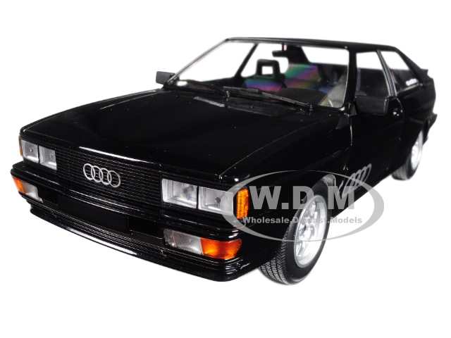 1980 Audi Quattro Black Metallic Limited Edition to 504 pieces Worldwide 1/18 Diecast Model Car by Minichamps