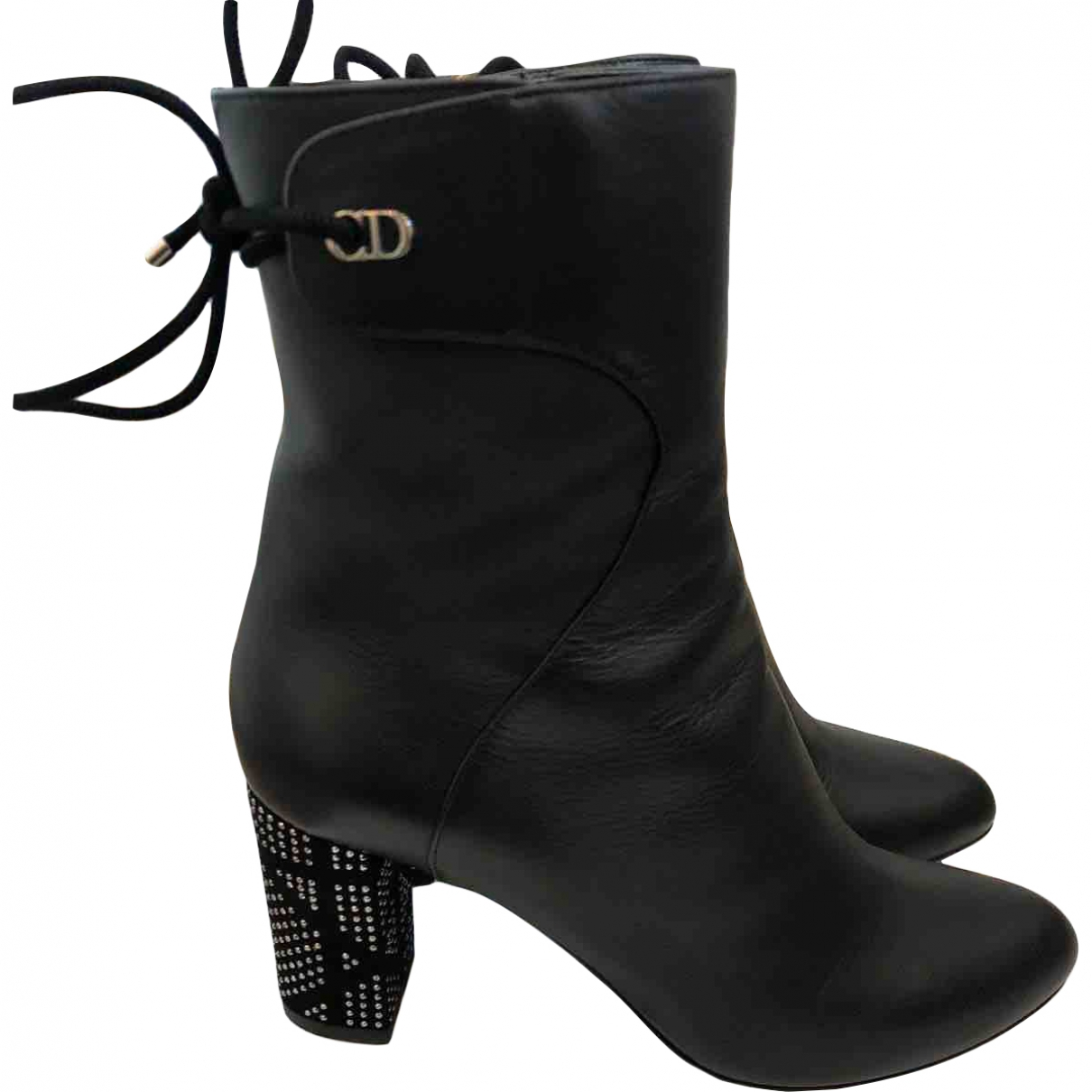 Dior \N Black Leather Ankle boots for Women 37 EU