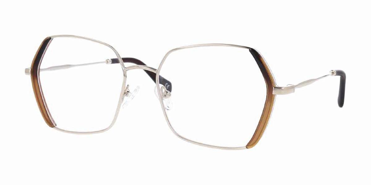 Square Full Rim Metal Women's Glasses Discount Online Gold Size 54, Free Lenses, HSA/FSA Insurance, Blue Light Block Available - SmartBuy Collection