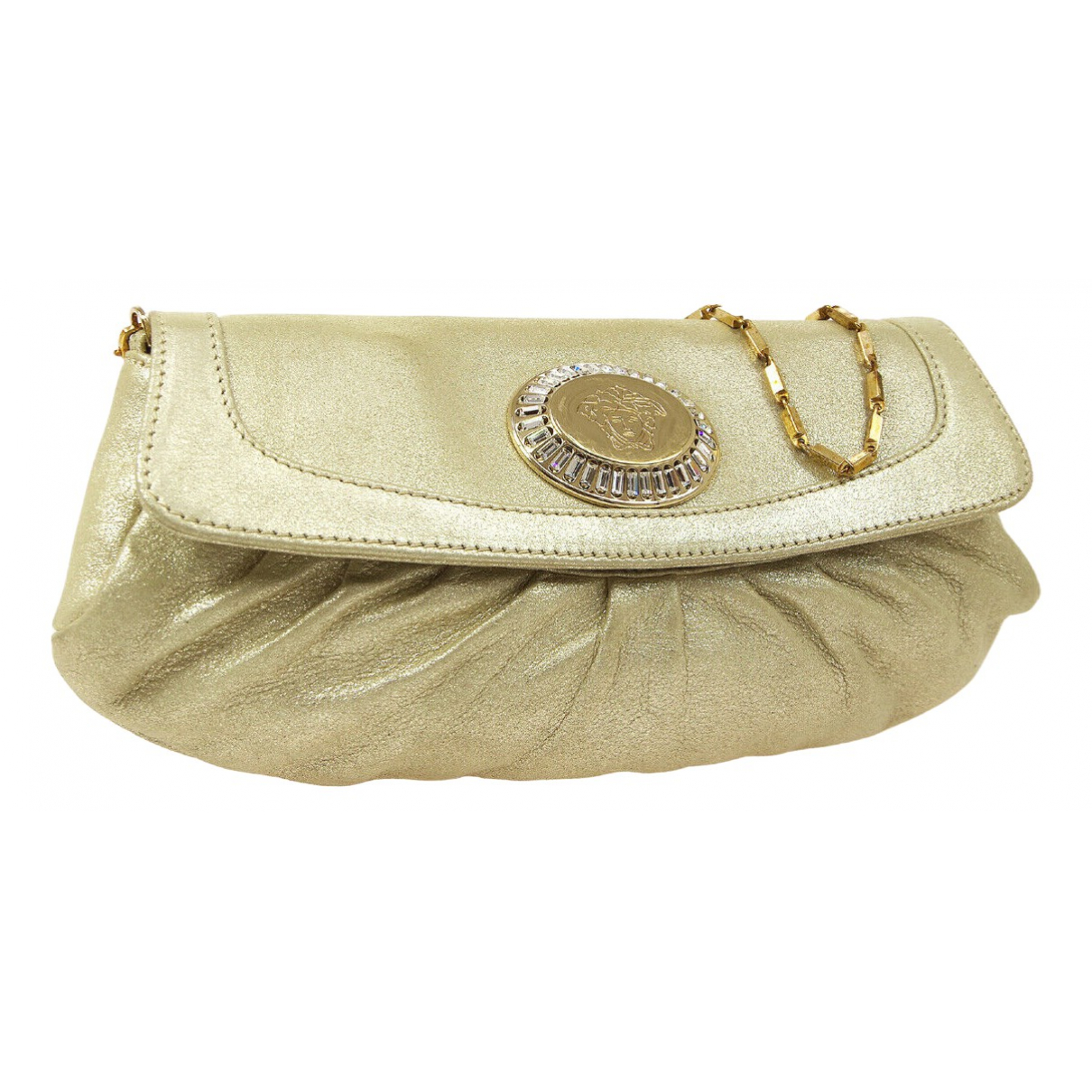 Versace \N Gold Leather Clutch bag for Women \N