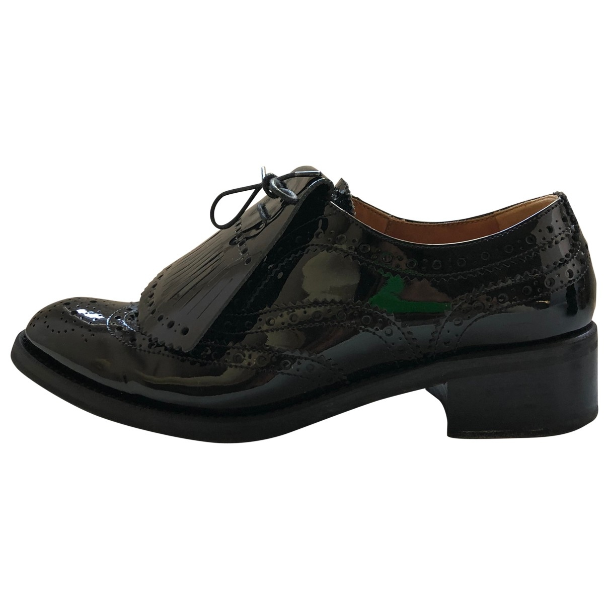 Church's \N Black Patent leather Flats for Women 37 EU