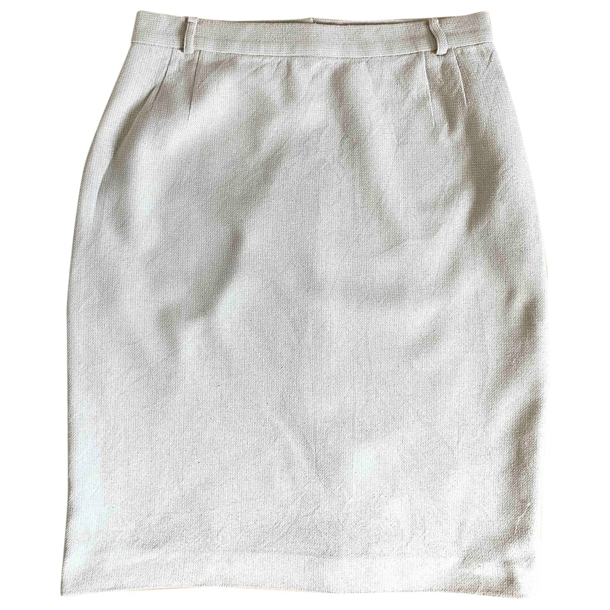 Non Signé / Unsigned \N Beige Silk skirt for Women 44 IT