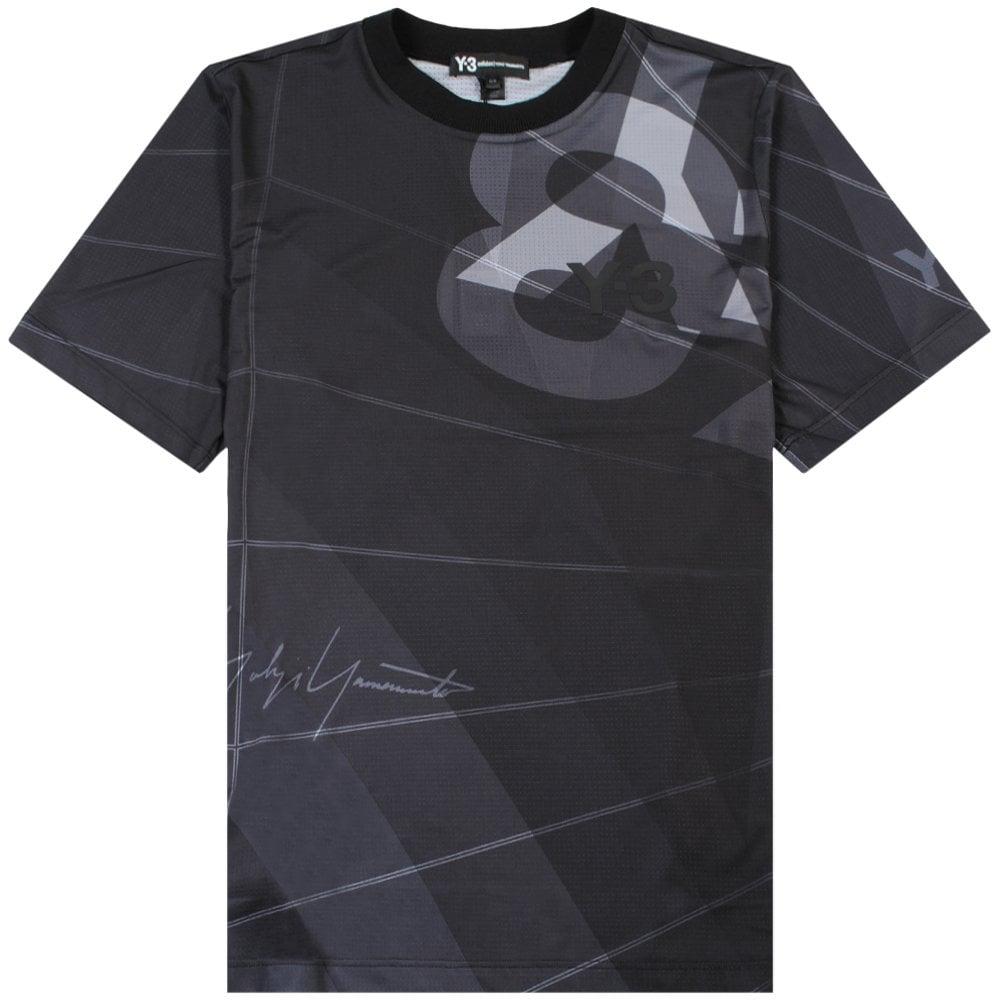 Y-3 Mesh Graphic Logo T-shirt Black Colour: BLACK, Size: MEDIUM