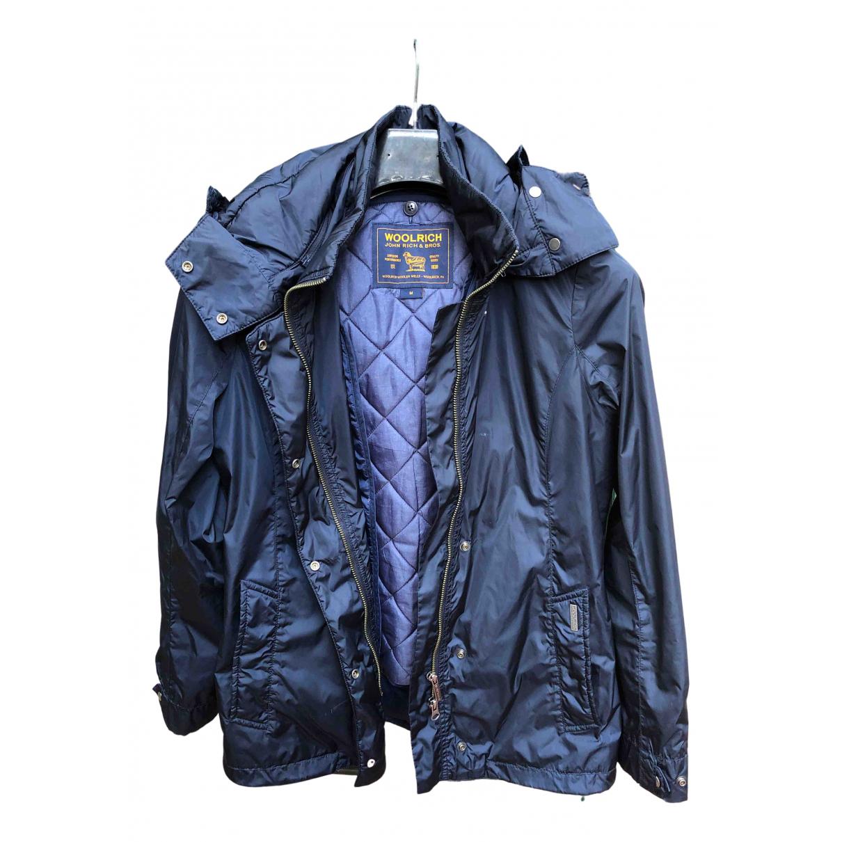 Woolrich N Blue Trench coat for Women M International