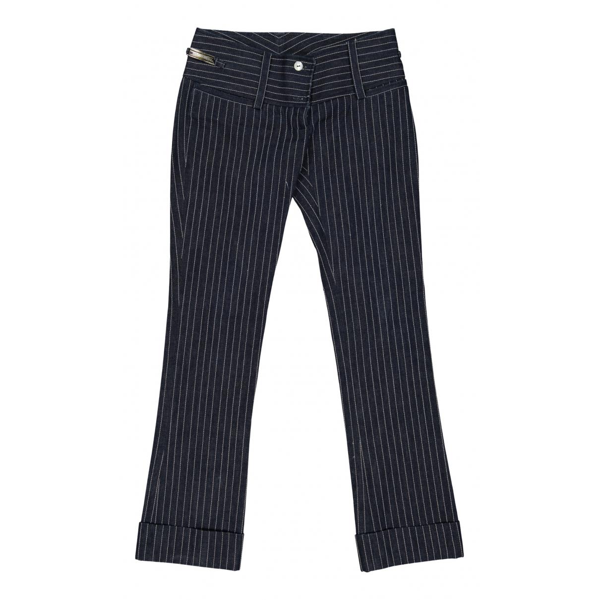 Dolce & Gabbana - Pantalon   pour femme en coton - marine