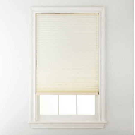 Home Expressions Cordless Light-Filtering Cellular Shade, One Size , White