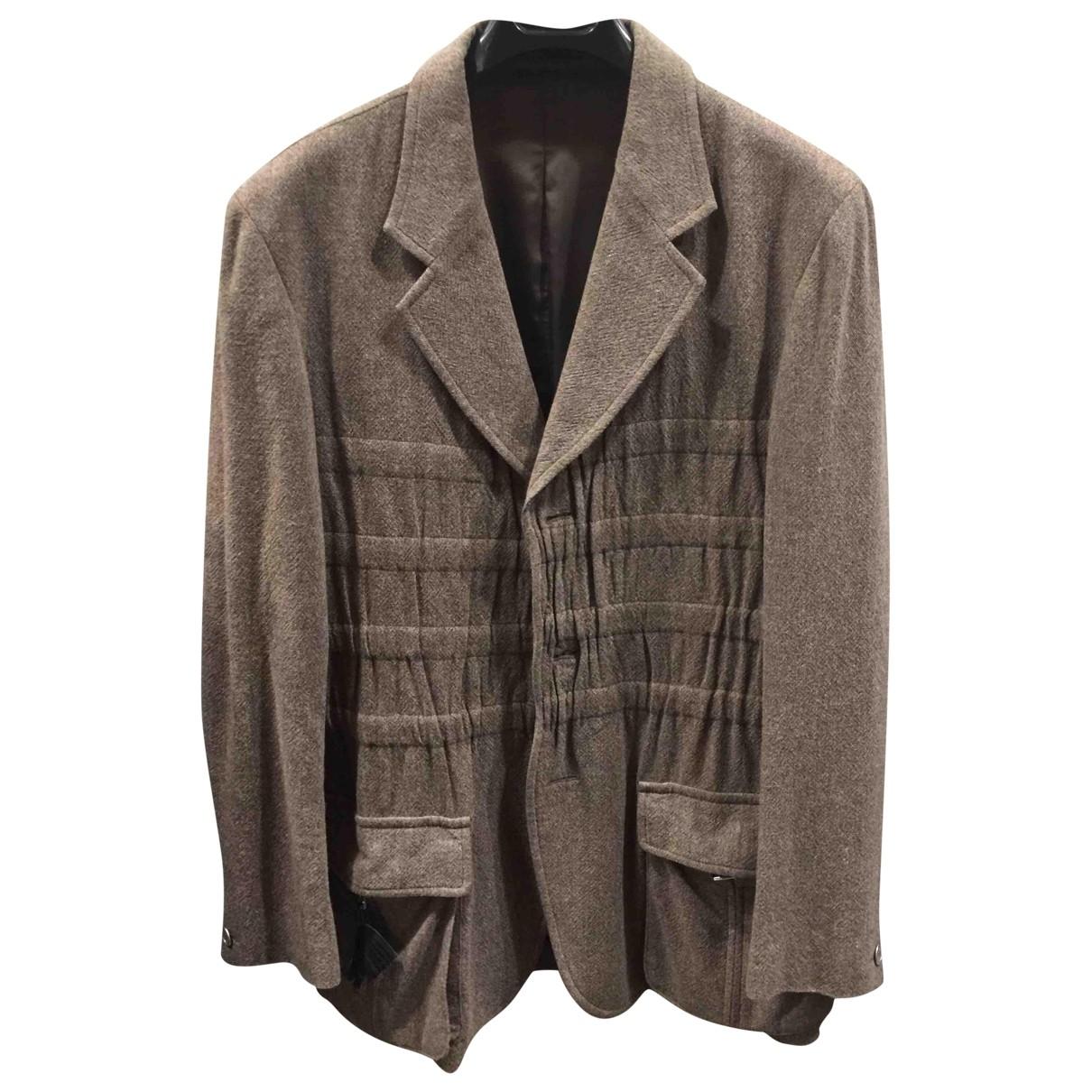 Yohji Yamamoto \N Beige Wool jacket for Women 3 0-5