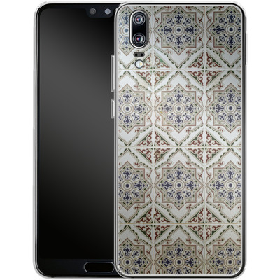 Huawei P20 Silikon Handyhuelle - White Tiles von Omid Scheybani