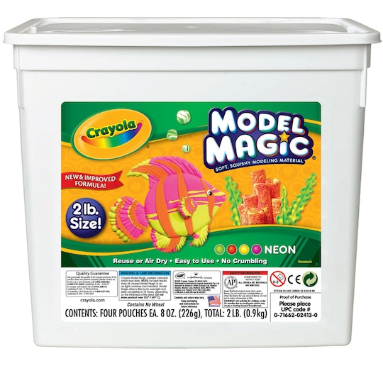8 Pack: Crayola® 2Lb. Model Magic® Neon Bucket By Crayola Model Magic | Michaels®